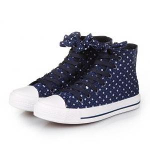 Casual canvas shoes bow flowers SS0..