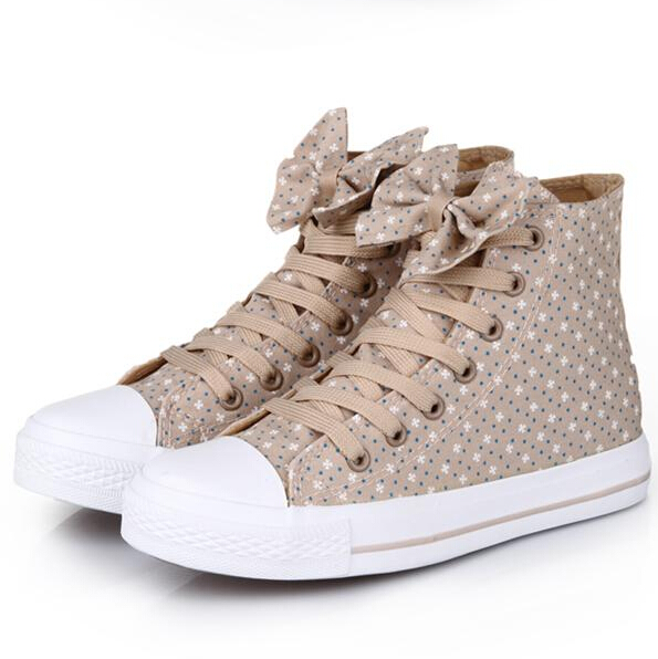 Casual canvas shoes bow flowers SS05202SH