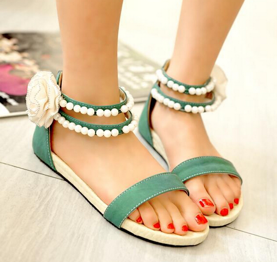 Summer fashion flowers beaded sandals SS05241SH