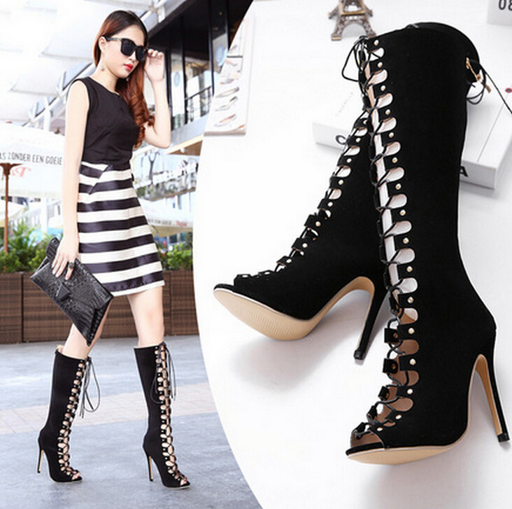 Fashion hollow sexy boots women's boots 2061844