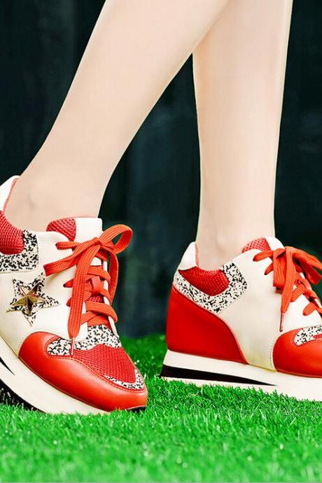 Fashion leisure printing platform shoes 9875214